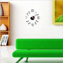 Fashipon  Wall Clock 3D Frameless Watches Hours DIY Room Home Decorations Model Acrylic  Clock