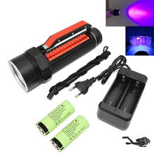 Uranusfire 395nm UV Diving Flashlight blacklight Underwater 100 Meter Professional Ultraviolet/White LED Dive Light Torch(China)