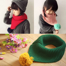 Kids All Matches New Arrival Pompom Popular Scarf Kids