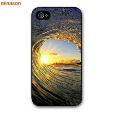 minason Surfing In Hawaii Ocean Scene Cover case for iphone 4 4s 5 5s 5c 6 6s 7 8 plus samsung galaxy S5 S6 Note 2 3 S5927(China)