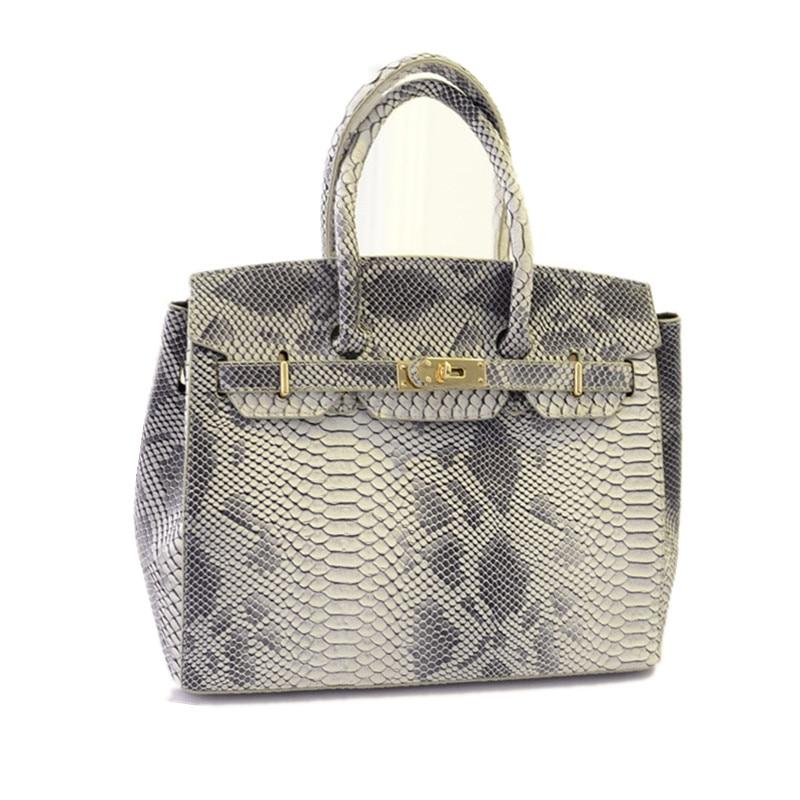 Famous Branded Luxury Rivet Serpentine Leather Tote Hand Bag Designer Handbags High Quality Women Shoulder Bags Sac A Main Femme<br><br>Aliexpress