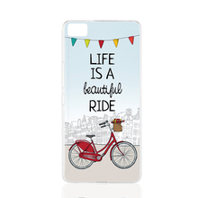 21203 Life is a Beautiful Ride x Red City Bike cell phone Cover Case for BQ Aquaris M5 for ZUK Z1 FOR GOOGLE nexus 6