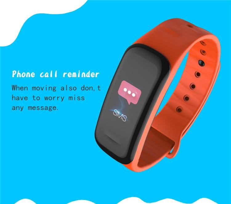 Original C1Plus Smart Bracelet Color Screen Blood Pressure Waterproof Fitness Tracker Heart Rate Monitor pk fitbits miband 3 5