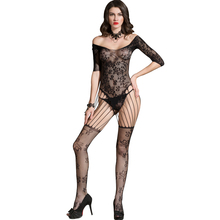 Buy Sexy Latex Catsuit Women Lingerie Bodystocking Mesh Hollow Cutout Erotic Bodysuit Sleepwear Nightwear Black Erotic Underwear