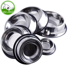 6 Sizes Stainless Steel No-Slip Pet Puppy Cat Dog Food or Drink Water Bowl(China)