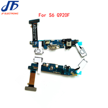 10pcs/lot USB Charger Charging Connector Dock Port + Audio Jack Flex Cable Ribbon + sensor keypad For Samsung Galaxy S6 G920F(China)