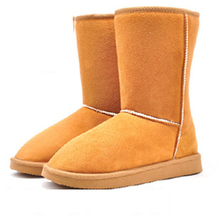 New Style Hot Sale Autumn Winter Warm cheap shoes high long snow boots artificial fur leather casual female Mid-calf shoes