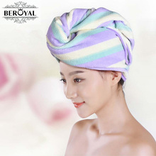 New 2017 Brand Hair Towel--1pc Microfiber Towel Magic Drying Turban Wrap Towels Hat Cap Hair Dry Quick Dryer Bath Salon Towel