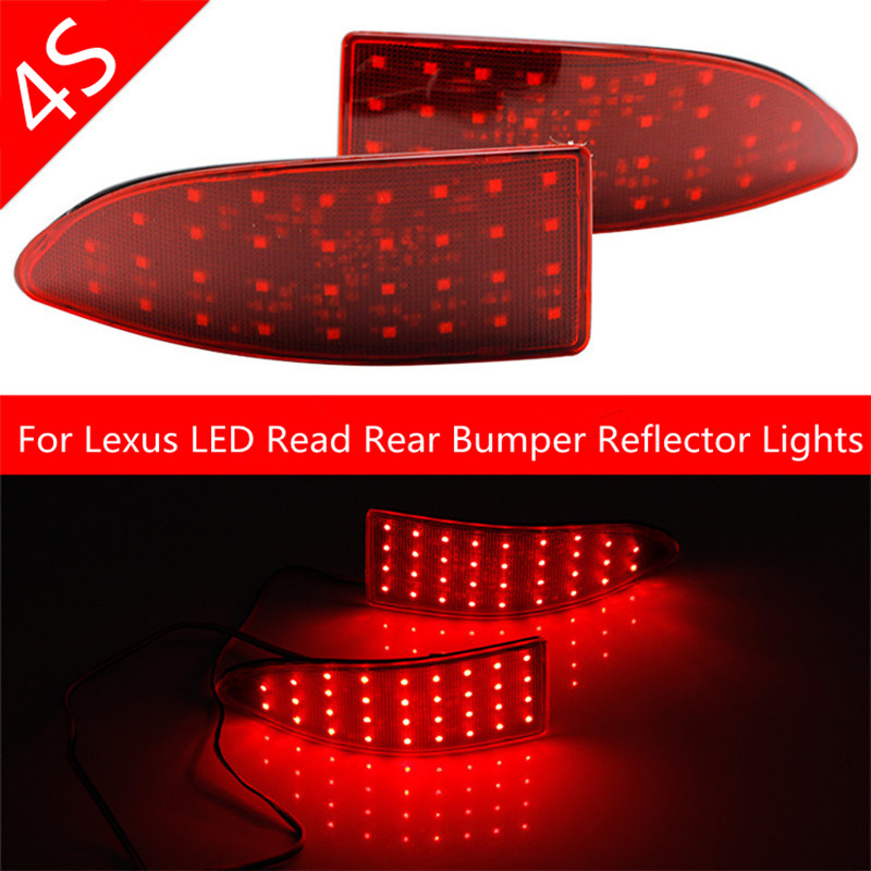 LED Read Rear Bumper Reflector Lights For 2006-2013 Lexus IS250/IS300/IS350 Brake Parking Light Auto Tail Night Running Lamp<br><br>Aliexpress