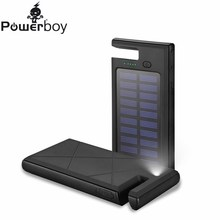 New 8000mAh Dual USB External Bateria External Solar Power Bank Mobile Backup Solar Phone Charger For iPhone Samsung Powerbank