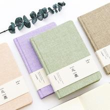 Creative Cute Fresh Style Green Purple Beige Brown Cloth A5 Traveler's Notebook Planner DIY Diary Planner Agenda Journal Notepad(China)