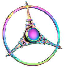Fidget Spinner Romantic Eiffel Tower Style Finger Mini Gyro Decompression Toys For Kids Adult Stress Relief Toy(China)