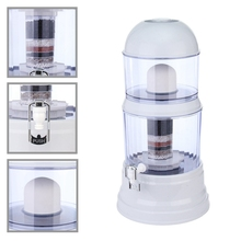 1 Set Carbon Mineral Dispenser Purify Purifier Bottle 16L 8 Stage Water Filter Purifier Ceramic(China)