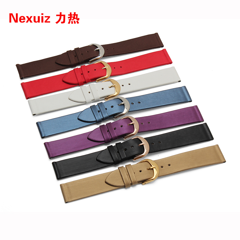 17mm 19mm  Hot Promotion watch bands Smooth Grain spun silk soft Genuine Leather Watchbands Straps <br><br>Aliexpress