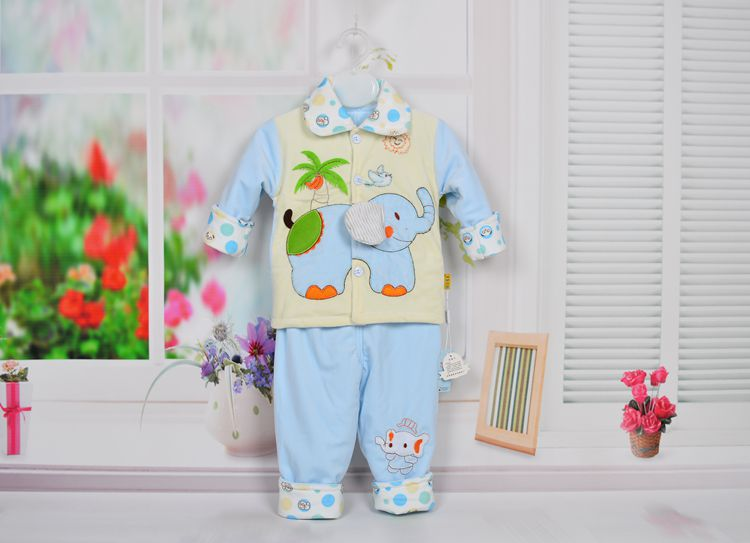 2017 New Kids Baby Clothes Suit Cute Cartoon Elephant Two Thin Pieces Of Childrens Clothes Free Shipping<br><br>Aliexpress