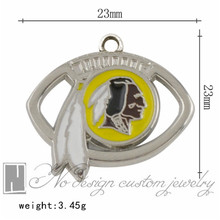 Washington American football National league team Redskins Charms Dangle Alloy Charm fits Pendants for jewelry making NE1050