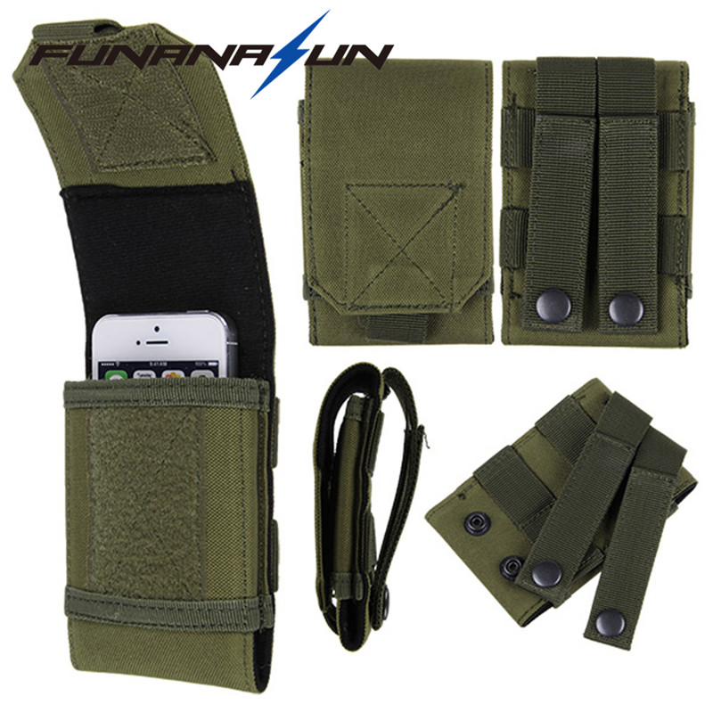 Tactical Phone Belt Pouch Molle Waist Bag Pack Cellphone Smartphone Pouch iPhone 6 6S 7 Plus Galaxy Note 5.5""