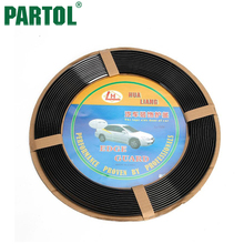 Partol 7mm 42ft Universal Car Door Guards 1280cm Auto DIY Black Bumper Strip Door Rubber Edge Protector Strip Car Trims Moulding