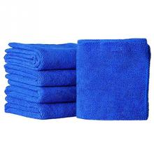 5pcs Microfibre Cleaning Auto Soft Cloth Washing Cloth Towel Duster Blue Soft Absorbent Wash Cloth Car Auto Care 25*25cm