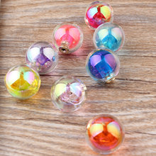 Wholesale Trendy 30pcs/lot 16mm Acrylic Rounds Shape Colorful Lady Earrings hypoallergenic earbuds ear plug Diy Jewelry making