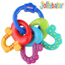 Baby toys 3-12 months New Silicon Baby Teether Molar Toothbrush Training Tooth Chewing Lovely Toddler Bell Toys YYT320