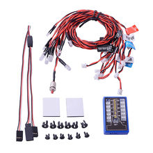 Highlight 12 LED Flashing Light System Kit Highlight For RC Car 1/10th Scale Drift Touring