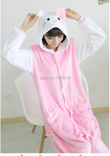 Hello kitty  Cosplay onesies Pajamas Cartoon Animal  costume Pyjamas Adult Onesies party dress  Halloween pijamas