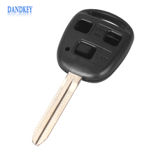 Dandkey 3 BUTTON REMOTE KEY FOB CASE for TOYOTA FJ/Land Cruiser Camry TOY43(China)