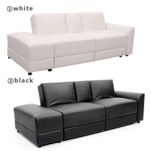 Functional Sofa Bed PU Sectional Sofa Lounge Storage Drawer Living Room Furniture HOT SALE
