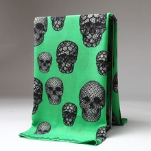 Fashion Women large warm soft fabric brand scarf / Skeleton skull Printed / square cashmere scarves 120*120cm / Wholesale