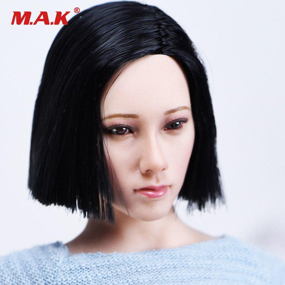 "1//6 Female Head Sculpt Double Braided BLACK Hair For 12/"" PHICEN Figure SUNTAN"