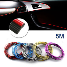 5M Car-Styling Auto Strips Decorative Thread Trim Brand Sticker Case For Ford Fiat Mazda Honda Kia VW Honda Hyundai Car-Styling(China)