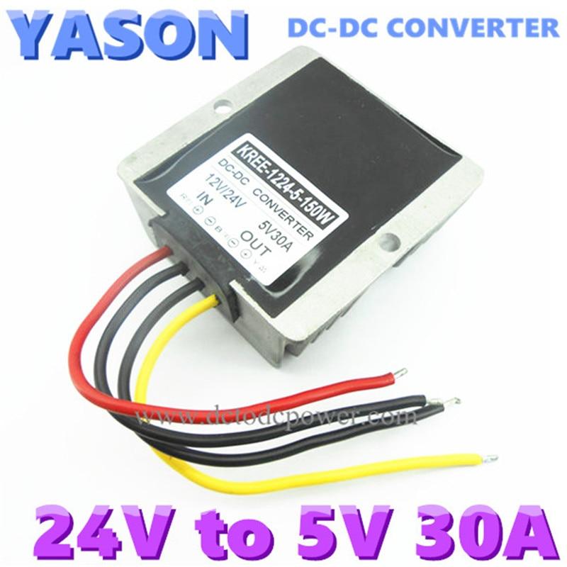 DC-DC converter DC24V(8-40V)to DC5V 30A 150W<br>