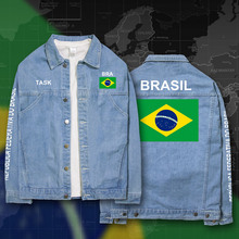 Brazil Brasil BRA Brazilian BR denim jackets men coat men's suits jeans jacket thin jaquetas 2017 sunscreen autumn spring nation(China)