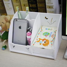 DIY drawer office desktop storage box cosmetics grocery wood boxes mobile phone, key pen case container