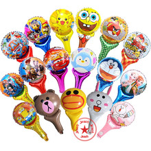 birthday balloons helium spongebob cars princess pokemon balloons birthday decoration bird cat minion balloon stick minions(China)