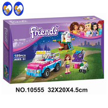 A Toy A Dream 10555 Girl Friends Olivias Expeditions Auto Car Toys DIY Building Brick Toys Girls Gift Compatible 41116