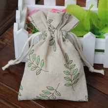 Olive Linen Gift Pouch 9x12cm 10x15cm pack of 50 Vintage Fashion Jewelry Packaging bag