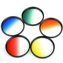 30 37 40.5 46 49 52 55 58 62 67 72 77 82 mm Gradual Color graduated Grey Orange Blue green yellow red Purple camera lens Filter