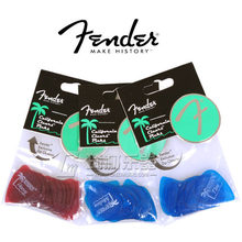 Fender California Clears Picks Plectra Mediators (12/pcs-pack) 3 Colors Available in Thin/Medium/Heavy(China)