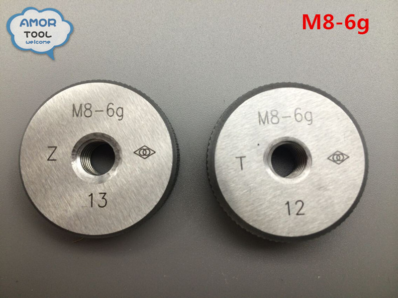 M8-6g metric thread ring gage T+Z gauge tools(set of 2 ) for detecting a standard diameter of external thread<br><br>Aliexpress