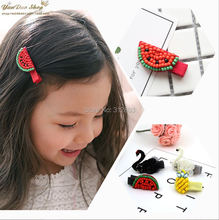 YANXIAN Strawberry Fruit Hair Clip for Girls Jewellery Hairpin Duck Animal Hair Barrettes Hair Accessories for Women(China)
