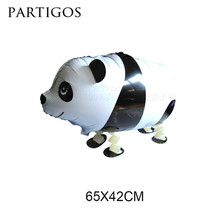 10pcs/lots Panda walking pet balloons animal balloon Helium inflatable foil balloon Birthday Party Decorations Children gifts