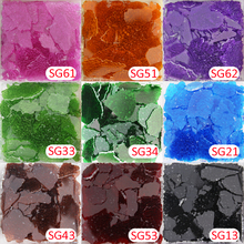 150g Glass Cullet Broken Glass Colored Safety Glass,green Red Blue Coffee Orange Glass Pieces(China)