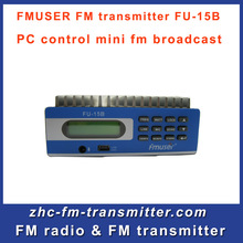 Free shipping by DHL 2 PCS Fmuser FU-15B fm radio transmitter PC Control broadcasting for wireless radio station(China)