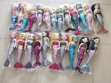 10 pcs multicolor mermaid dolls bulk order can not choose color 10 pcs in one bag(China)
