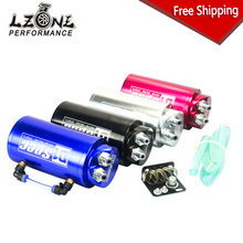 LZONE RACING - FREE SHIPPING Universal 10mm D1 Engine Round Oil Catch Tank Can JDM BLACK,SILVER,RED,BLUE JR-TK82