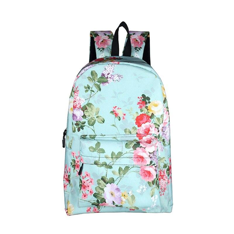 Korean Style Floral Print Women Backpack Flower Teenage Girls School Bags Female Lady Casual Daypack Students School Backpack<br><br>Aliexpress