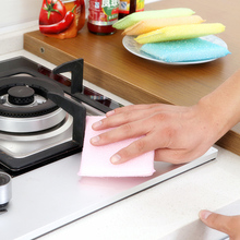 Wholesale Magic Cleaning Tools Dish Towel Sponge Scouring Pads Kitchen Cleaning Pads Scourer 12*9*1.5cm(China)