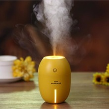 Chizea 180ML Lemon Mini USB Portable Ultrasonic Humidifier DC 5V LED Light Air Purifier Mist Maker For Home Office Car